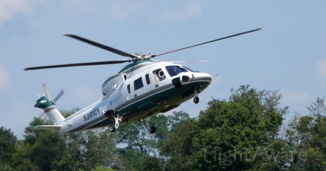 Sikorsky S-76 (N301CV) - A moment from touching down is this 2007 Sikorsky S-76C rotorcraft in the Summer of 2019.