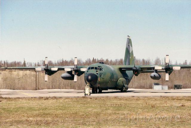 Lockheed C-130 Hercules (64-0534) - Ground trainer at Elmendorf AFB. Mid 1990