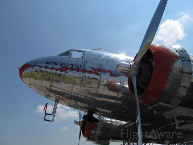"Douglas DC-3 (NC17334) - American Airlines DC-3 ""Flagship Detroit"" from Dayton Airshow 2013. Rest in Peace Jane Wicker and Charlie Schwenker"