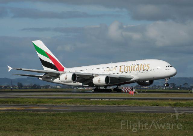 Airbus A380-800 (A6-EEK) - EK A380 touches down on 23L at AKL.