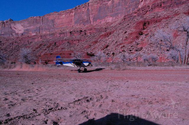 N796CB — - Mexican Mountian strip on San Rafel River, Utah