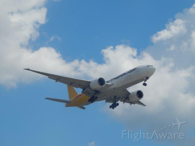 Boeing 777-200 (N714SA) - At the CVG Employee lot N714SA inbound from ANC landing on 18L at CVG