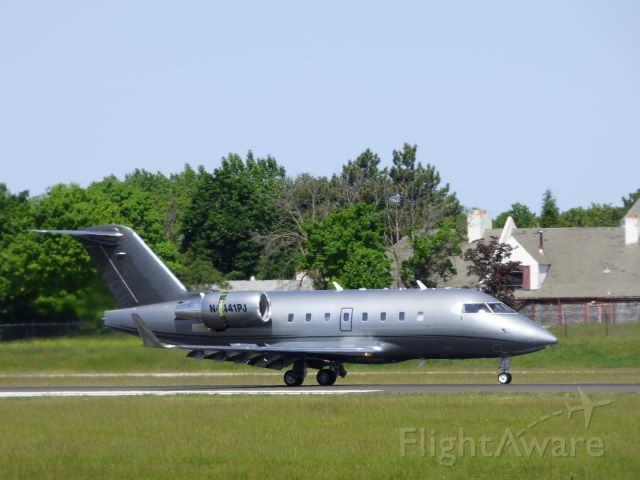 Canadair Challenger (N441PJ) - Shown here braking is this 1994 Bombardier Canadair Challenger 601 in the Spring of 2016.