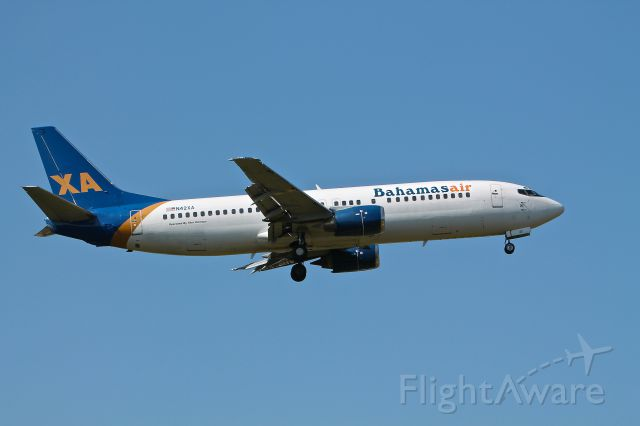 Boeing 737-700 (N42XA) - Bahamasair N42XA operated by Xtra Airlines seen here landing at BWI on 33L August 11, 2012