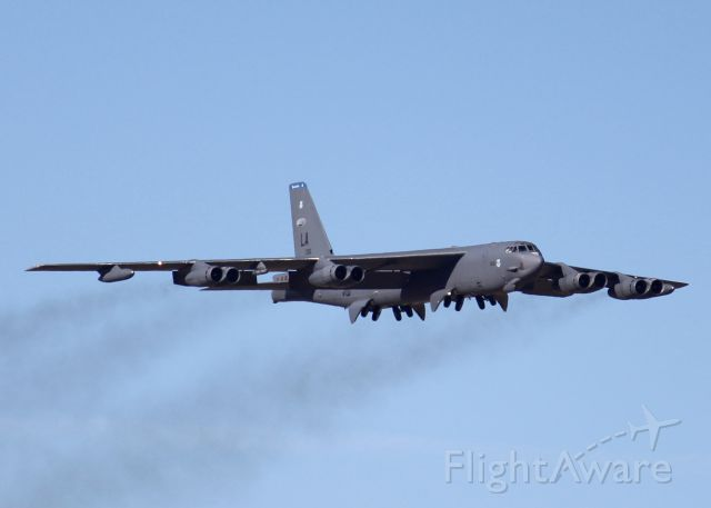 Boeing B-52 Stratofortress (61-0016) - At Barksdale Air Force Base. Gear coming down.