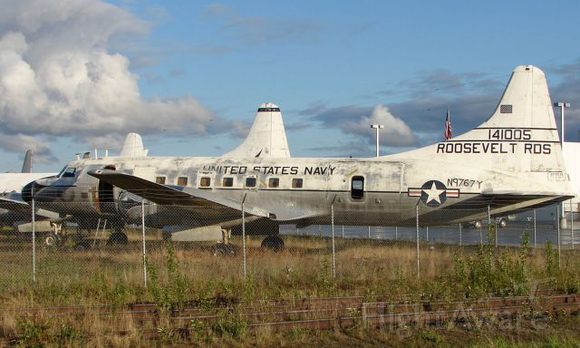 N9767Y — - Convair C-131F sits in Everts Fuel compound at Fairbanks - showing signs of it former life with US navy