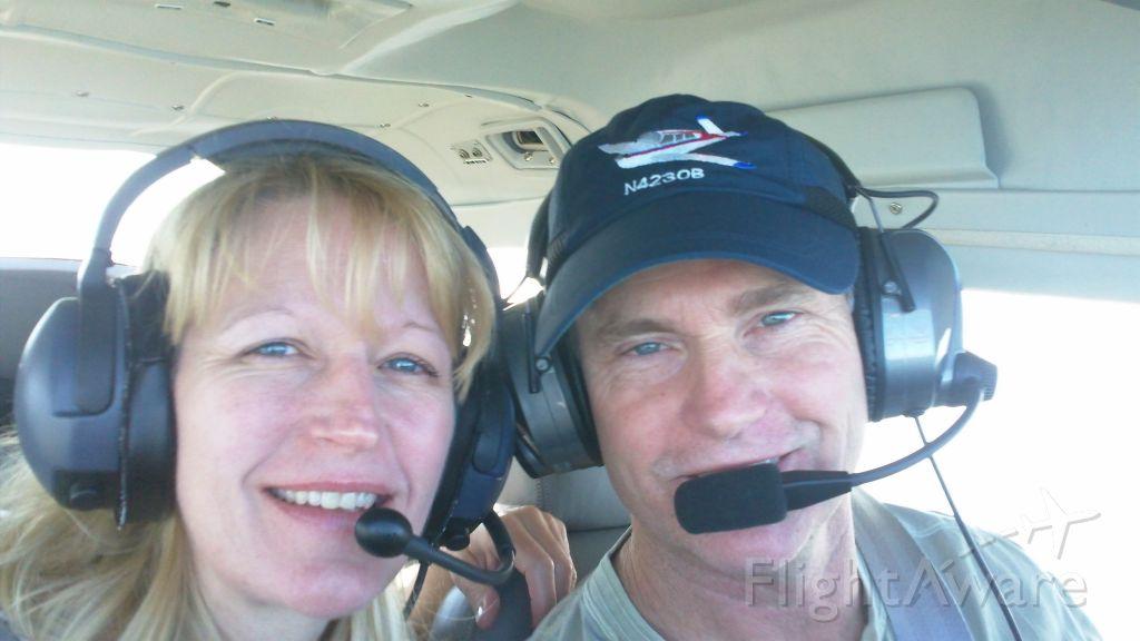 Cessna Skylane RG (N4428R) - Lisa and I over St. Augustine, Florida:  Our favorite destination