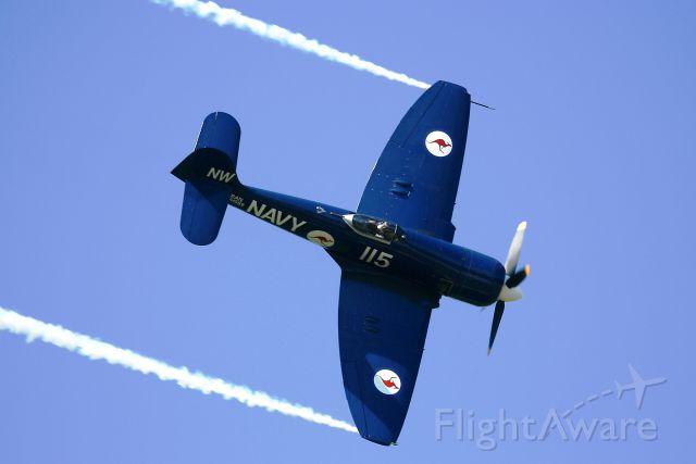 F-AZXJ — - HAWKER SEA FURY FB MK11, La Ferté Alais Airfield (LFFQ) Air Show (Le Temps Des Hélices) in may 2012