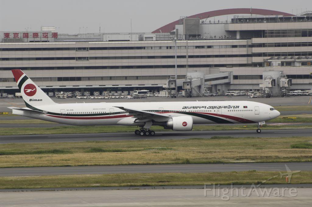 BOEING 777-300 (S2-AHN) - Takeoff at Tokyo-Haneda Intl Airport Rwy16R on 2014/05/25