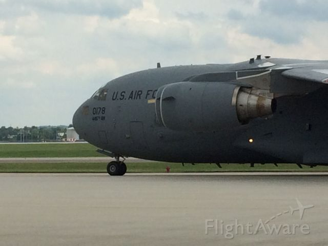 Boeing Globemaster III — - I was on the base when this landed