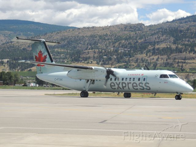 de Havilland Dash 8-300 (C-FTAK) - Arriving in Penticton (YYF) from Vancouver (YVR)