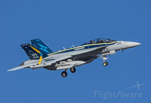 N306 — - 6 Squadron, RAAF EA-18G Growler returning from a mission.