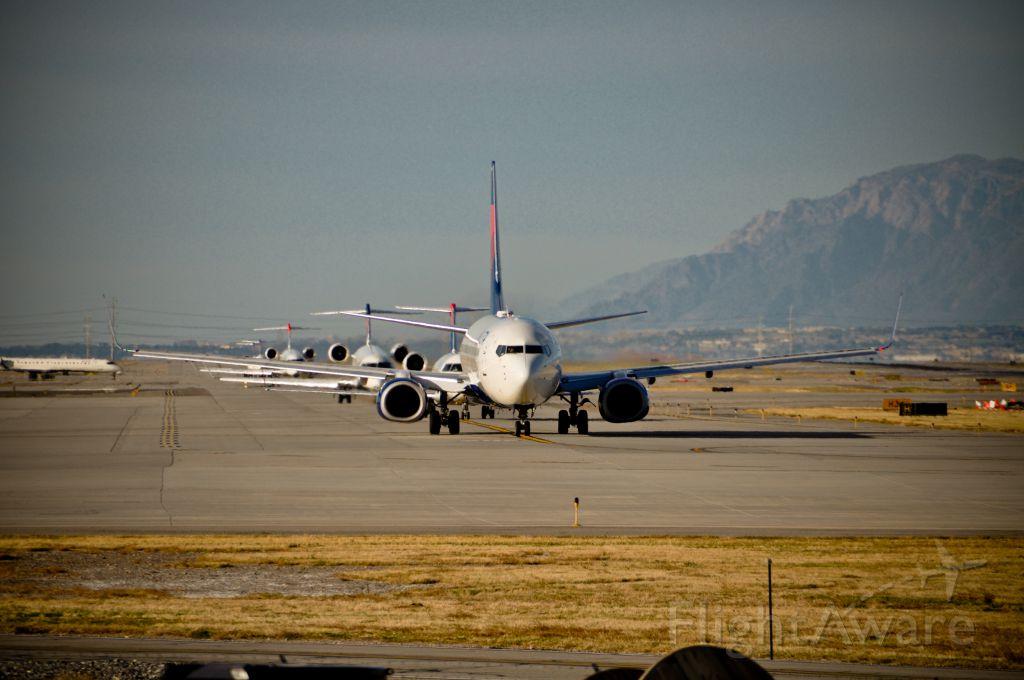 — — - Hold Short 16,  Departing Salt Lake City