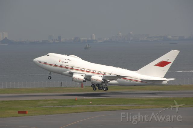 A9C-HAK — - Departure at Haneda Intl Airport R/W34R on 2008/10/13 Bahrain Royal Flight