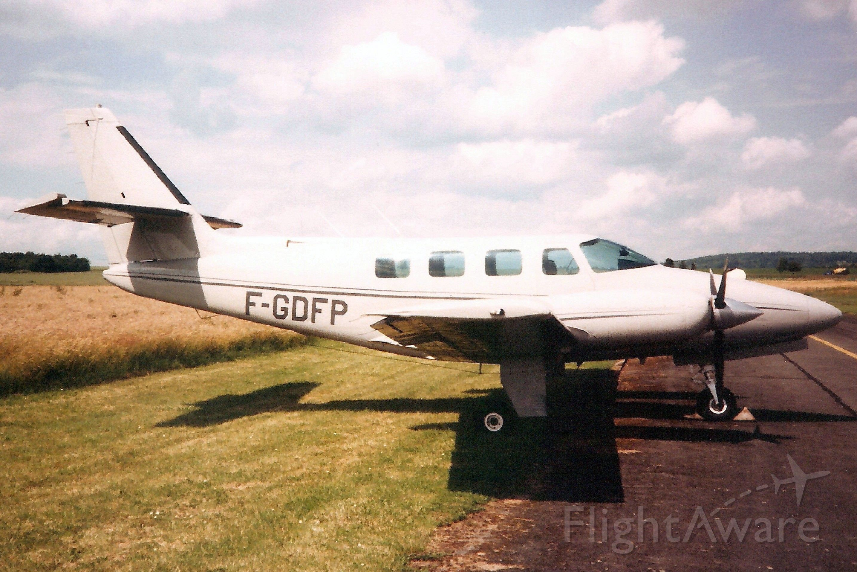 Cessna T303 Crusader (F-GDFP) - Seen here in Jun-91.