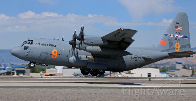 Lockheed C-130 Hercules (93-7313) - Noon hour departure from 16L.