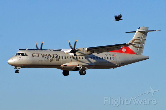 ATR ATR-72 (HB-ACB) - two-way traffic