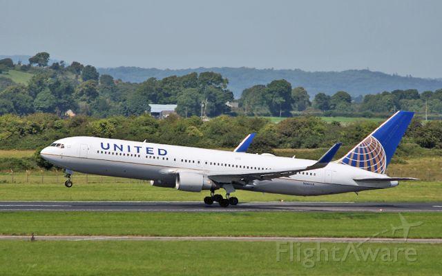 BOEING 767-300 (N666UA) - united b767-322er n666ua dep shannon for newark after diverting in four days ago 24/7/17.