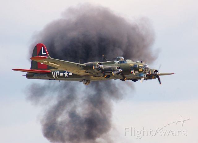 """Boeing B-17 Flying Fortress (N7227C) - B-17 """"Texas Raiders"""" doing a fly-by at Wings Over Houston 2010."""