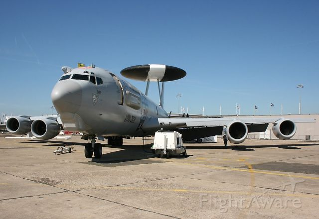 — — - The French Air Force E-3F AWACS Boing presented statically at Paris Le Bourget Air Show in June 2011.