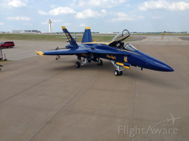 McDonnell Douglas FA-18 Hornet — - Blue Angel #6 stopping for fuel