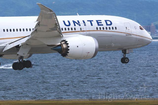Boeing Dreamliner (Srs.8) (N26910) - N26910 / UAL35 UNITED AIRLINES INC · San Francisco Intl (KSFO) – Kansai Int