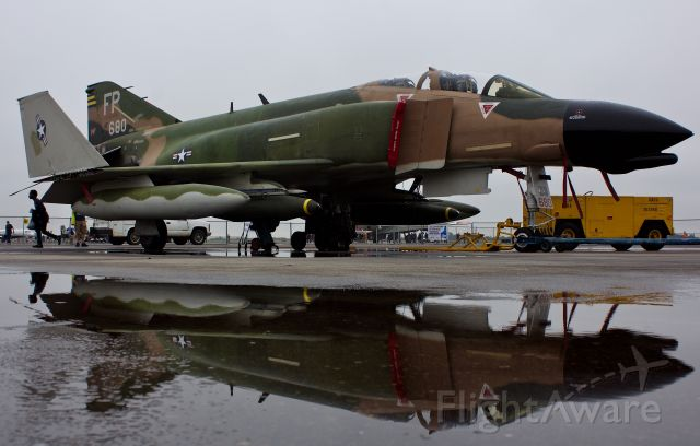 """McDonnell Douglas F-4 Phantom 2 (NX749CF) - The only currently flying F-4 Phantom in North America sits on a dreary overcast Houston morning of the 2018 Wings Over Houston Airshow 10/20/2018  (Please view in """"full"""" for highest image quality)"""