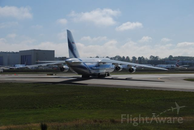 RA-82047 — - I was at Pane Field in Everett Washington on the North end of the Runway. This was a great aircraft to watch roll out and take off. Beautiful design.