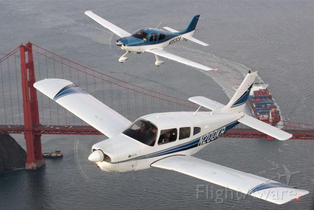 Piper Cherokee Arrow (N200KR) - Air to Air shoot over San Francisco.