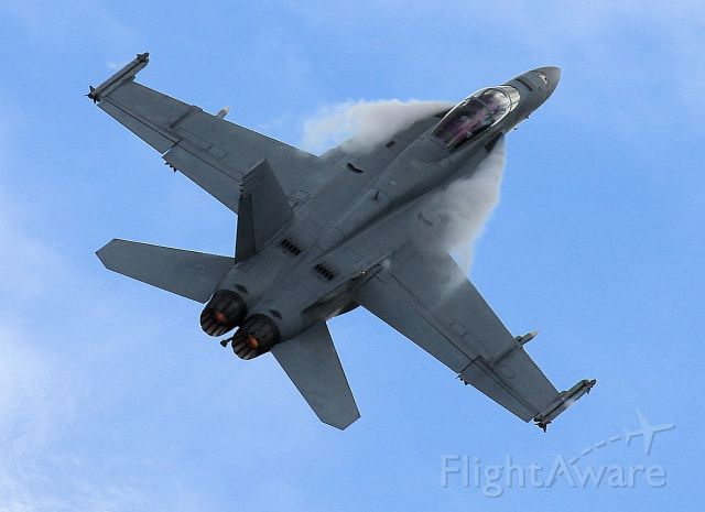 McDonnell Douglas FA-18 Hornet (A44202) - Display by RAAF FA18F at TAVAS air show 21 April 2017 Caboolture Queensland. Overcast day and hi G turns give some good effects
