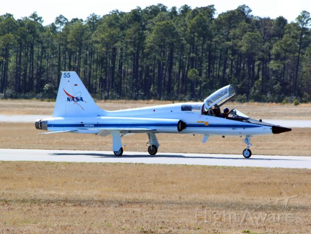 Northrop T-38 Talon (N955NA) - This NASA T-38 made a brief stop today at NAS Pensacola.  What a treat!
