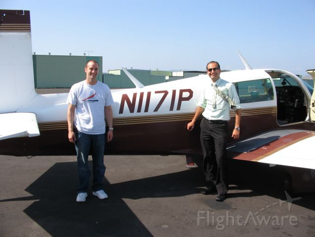 Mooney M-20 (N1171P) - May 5, 2008. Final day of dual instruction - David on left.