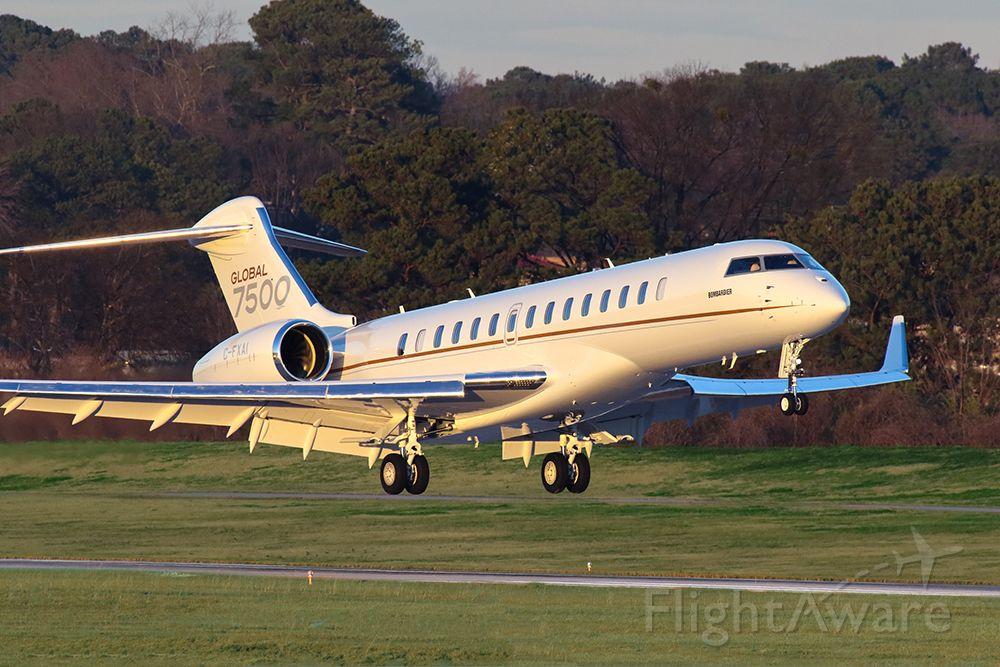 BOMBARDIER BD-700 Global 7500 (C-FXAI) - The new Bombardier Global Express 7500 landing in Atlanta at KPDK during Super Bowl week as a demonstrator.