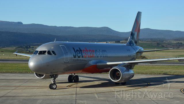 Airbus A320 (VH-VGI) - Jetstar A320-232 VH-VGI (cn 4466) at Launceston Tasmania on 2 October 2017.