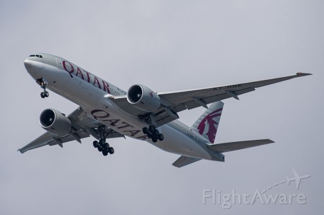 BOEING 777-200LR (A7-BBE) - Arrival from Doha.