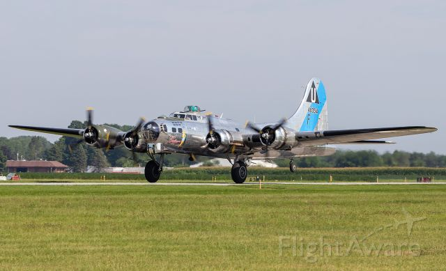 Boeing B-17 Flying Fortress (N9323Z) - A B-17G Sentimental Journey builds up speed as it gets ready to depart at KPPO.