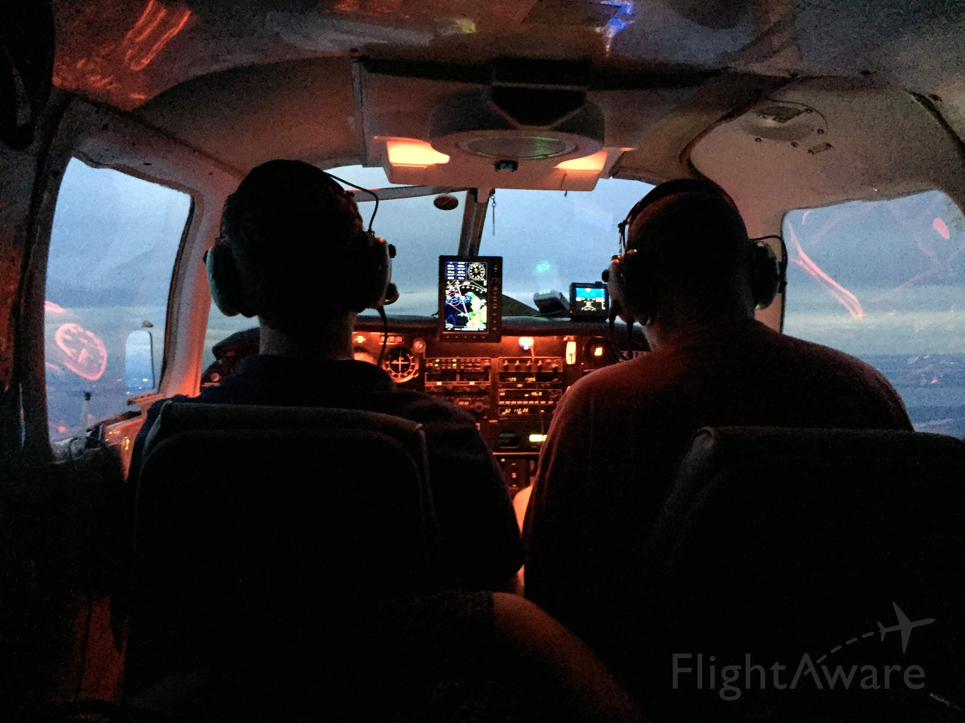 Piper Saratoga (N1333H) - Twilight flying adventure to Vaiden Field A08.