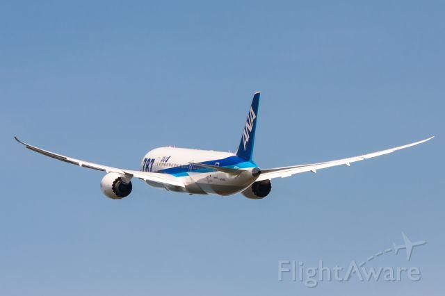 Boeing 787-8 (N1015X) - ANA 787-8 departing for a test flight.  Flex baby flex.