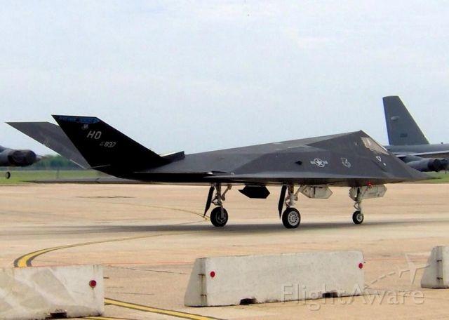 Lockheed Nighthawk (86-0837) - At Barksdale Air Force Base.