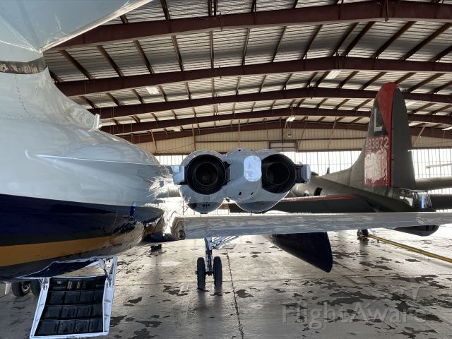 Lockheed Jetstar 2 (N700RM) - Not one, but *two* Jetstars in one hangar. Just love the look of these.
