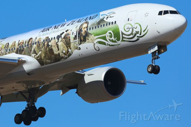 BOEING 777-300ER (ZK-OKP) - First time in Melbourne.