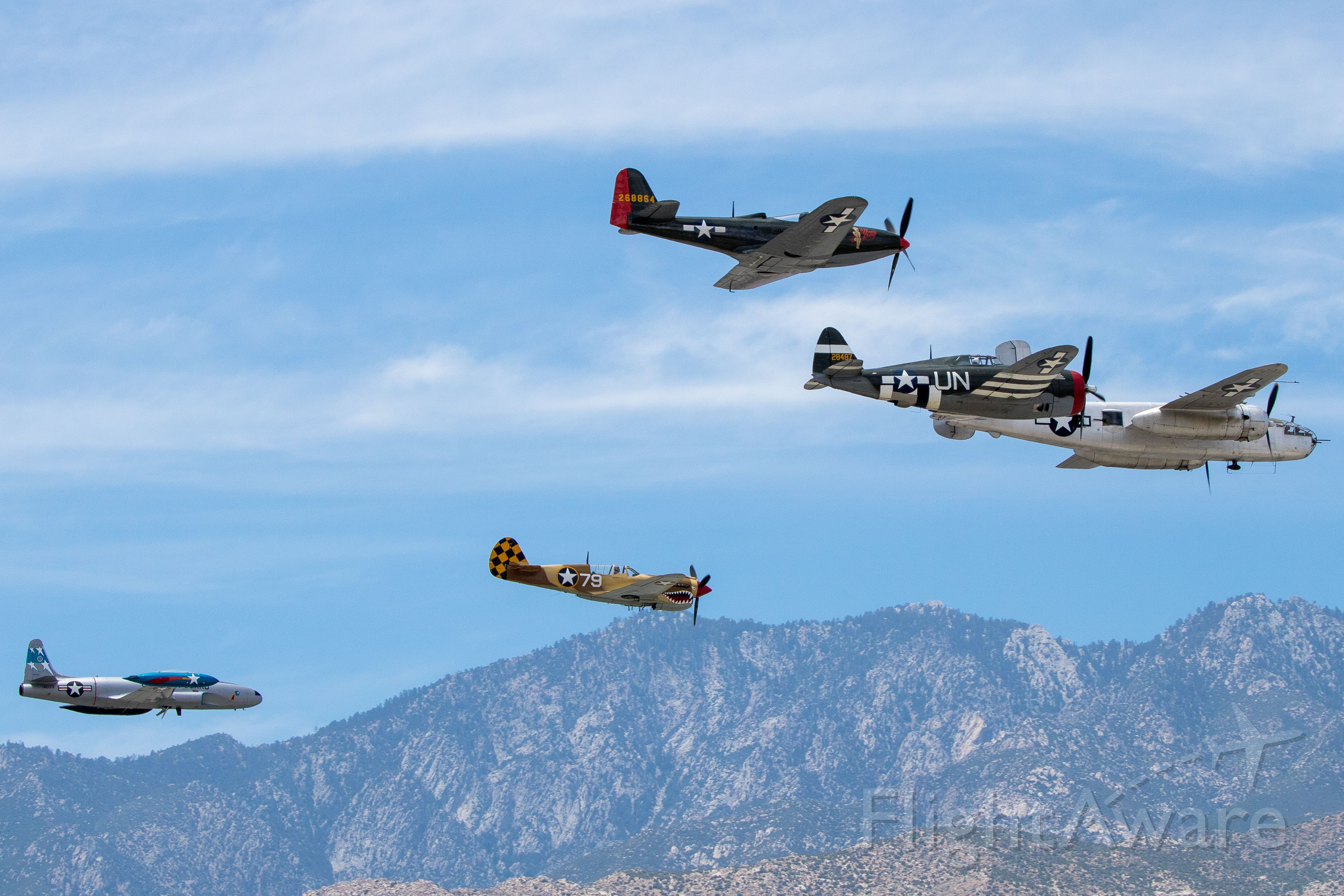 North American TB-25 Mitchell (VARIOUS) - Memorial flyby for LT. Bob Friend at the Palm Springs Air Museum