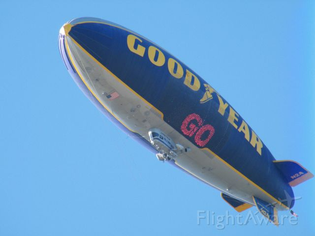 N2A — - Goodyear Blimp does a fly-by of KJAX as they head over to KHEG for an overnight mooring. It is in Jacksonville, Florida this weekend for the Florida / Georgia football game.