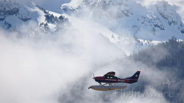 Cessna 206 Stationair (N93023) - N93023 departing Juneau, headed south
