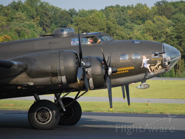 Boeing B-17 Flying Fortress (N3703G) - MEMPHIS BELLE Taxiing - 9/15/12