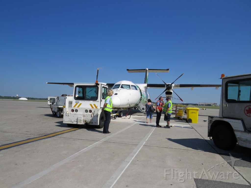 de Havilland Dash 8-100 (C-FGRP) - The toilet had to be fixed and a spill cleaned up, that's why we left one hour late for the Magdalen Islands.