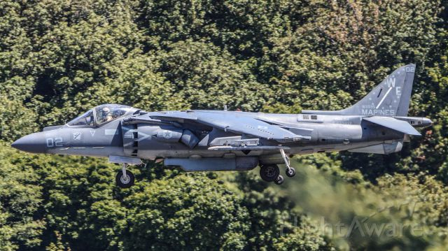 16-5595 — - A Harrier departing KBFI for another SeaFair 2015 demonstration