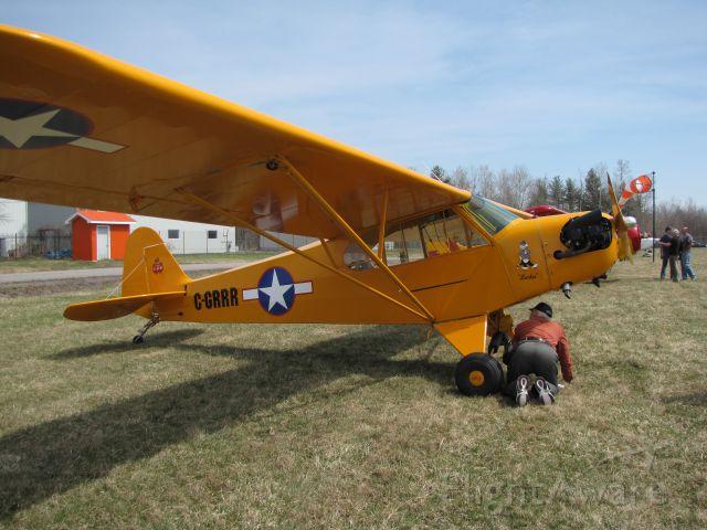 Piper NE Cub (C-GRRR) - Le salon de laviation virtuel du Québec à laéroport de Lachute CSE4 le 25-04 2009 Piper PA-28
