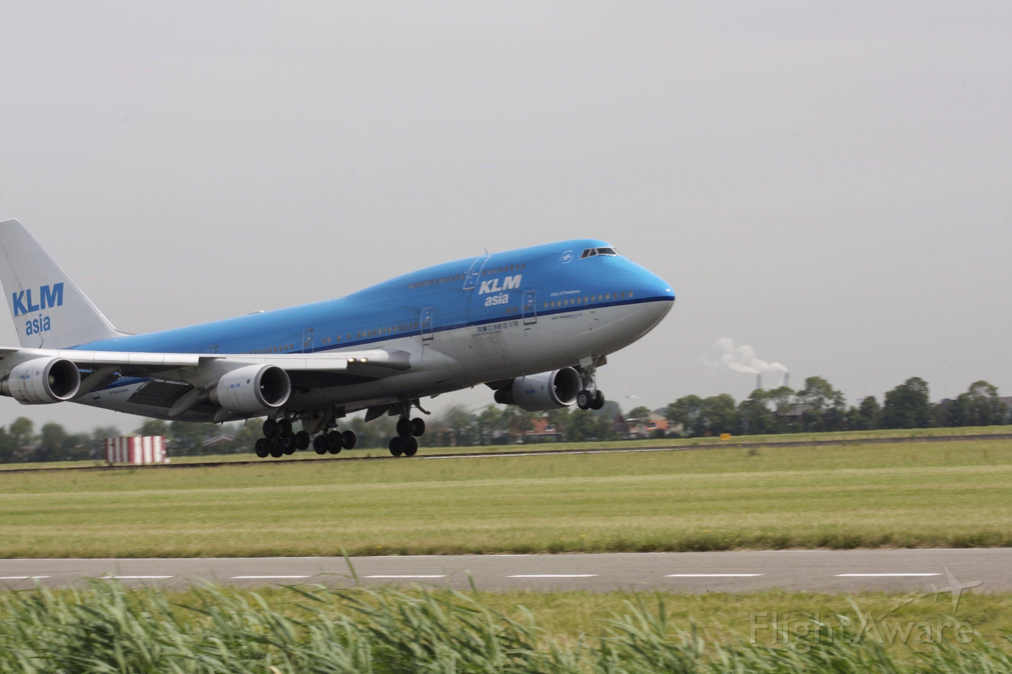 Boeing 747-400 (PH-BFF) - Polderbaan,Landing , terug uit NY