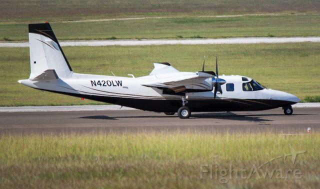 Aero U-9 Commander 680 Super (N420LW) - Starting takeoff role for departure to Paramaribo